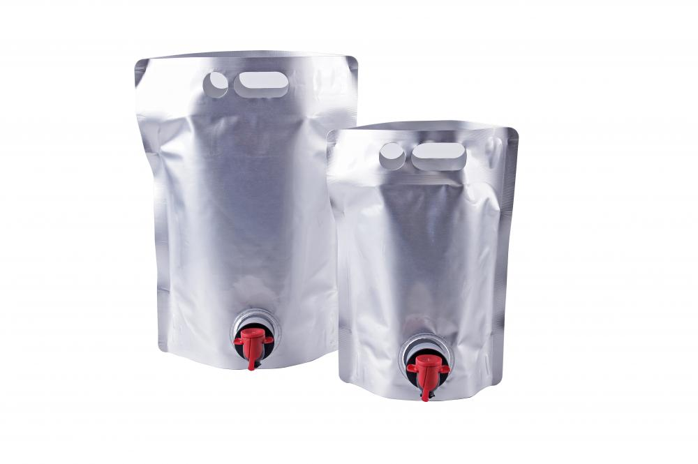 Stand Up Spout Drink Pouches For Wine Packaging