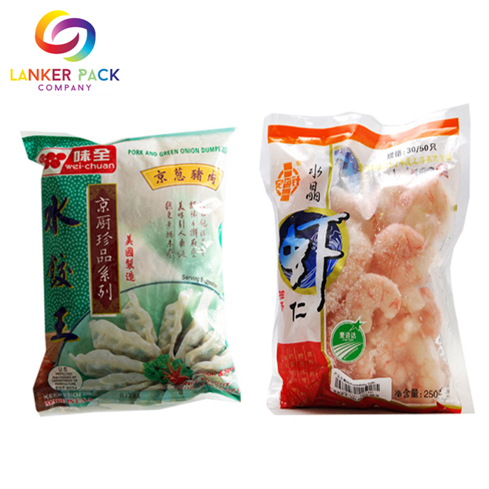 Moisture Proof Laminated Approved Frozen Food Packaging Pouch Bag