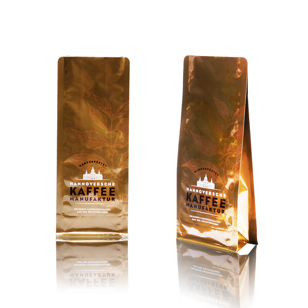 Reclosable Aluminum Coffee Packaging With Valve