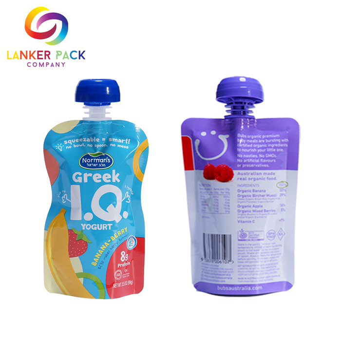 BPA Free Laminated Drink Spout Pouch Baby Food